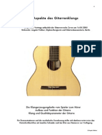 Aspekte Des Gitarrenklangs