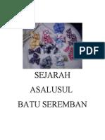 SEJARAH ASALUS