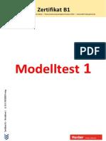 Zertifikat B1 Modelltest 1 Hueber