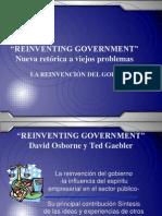 La Reinvencion Del Gobierno 2004 Ppt