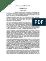 How to Be an Effective EFL Writing Teacher