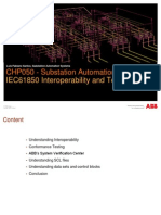 Substation Automation Systems - Day 3 -2 IEC61850 Interoperability and Testing