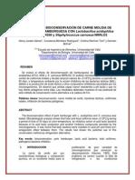 Efecto de Bioconservacion de Carne Molida de Cerdo Con Lactobacillus