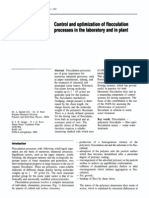Control and Optimization of Flocculation Processes in the Laboratory and in Plant