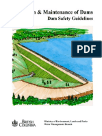 Inspection andmaintenance of dams