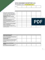 CEFR Formative Assessment Descriptors A2