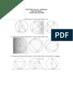 Maths Worksheet - Geometry