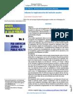 Revista Panamericana de Salud Pública - Artículo de Investigación Original