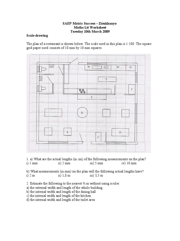 maths lit worksheet scale drawing. Black Bedroom Furniture Sets. Home Design Ideas