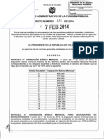DECRETO No. 172 -Salarios 2014