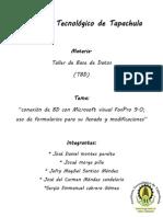 Conectar Bd (Escuele) Con Visual Foxpro 9.0