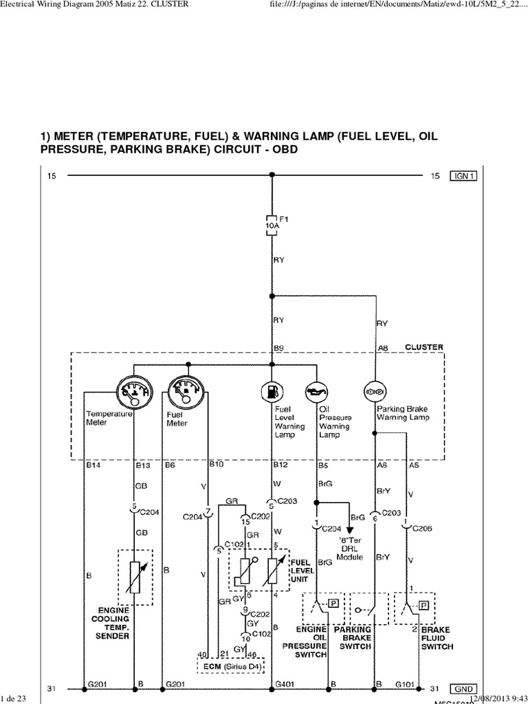 Daewoo Wiring Schematic