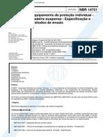 NBR 14751 - Equipamento de Protecao Individual - Cadeira Suspensa - Especificacao e Metodos de En