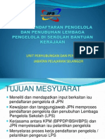 Pendaftaran Lembaga Pengelola Sekolah Selangor 2010