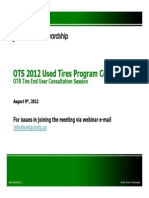 OTR Tire End-Users Consultation Session, OTS August 2012