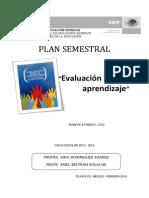 planeación de Evaluación para el aprendizaje 2014