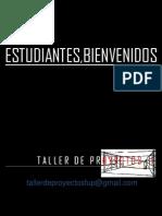 0. Taller de Proyectos i Fup Presentacion Temas.
