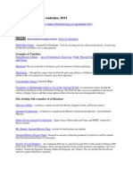Ancient Civilizations Websites 2013
