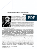 Progreso e Historia en Vico y Marx