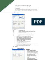 5. Mengatur Format Teks Dan Paragraf