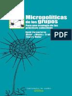 David Vercauteren - Micropolíticas de los grupos. Para una ecología de las prácticas colectivas