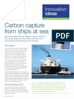 Carbon Capture & Storage From Ships at Sea