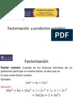 Sesión 8 Factorización, productos notables