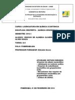 Estudo Dirigido Organica II