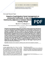 Impacts of Participatory Forest Management on Community Livelihoods