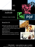 Geração de 30 - Carlos Drummond de Andrade