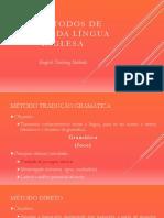 Os métodos de ensino da língua inglesa