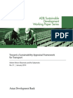 Toward a Sustainability Appraisal Framework for Transport
