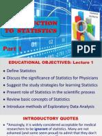 Statistics for Physicians, Part I