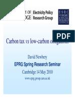 CARBON TAX - Carbon Tax vs Low-carbon Obligations
