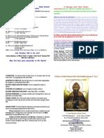 Saint Anne's Bulletin of  02/09/2014