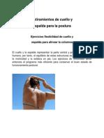 Ejercicios Flexibilidad de Cuello y Espalda Para Alinear La Columna
