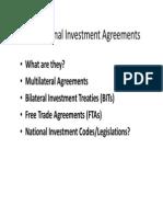 5 1 International Investment Agreements