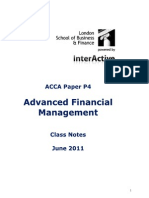 ACCA P4 Notes