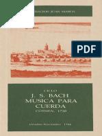 CICLO J. S. BACH MUSICA PARA CUERDA CÖTHEN, 1720