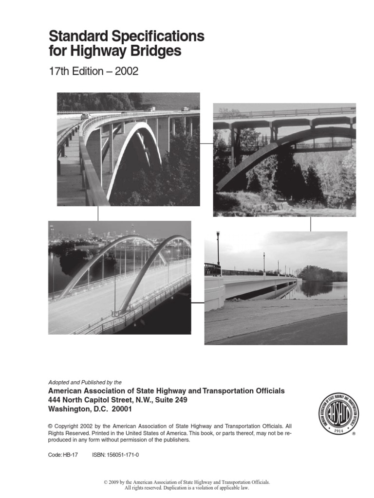 AASHTO 2002 Standard Specifications For Highway Bridges 17th