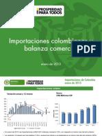 2013 Importaciones Balanza Enero