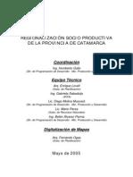 Regionalización Socio Productiva de Catamarca - 2005 web