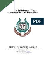 Delhi Engg Coll COMMON_1YR Syllabus