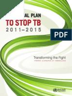 TB GlobalPlanToStopTB2011 2015