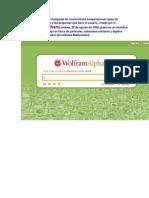 Tutorial WolframAlpha