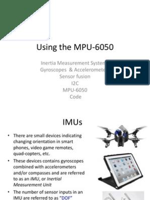 Using the MPU6050 IMU | Accelerometer | Physics & Mathematics
