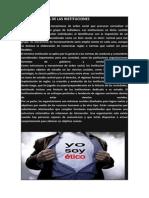 CÓDIGO DE ÉTICA DE LAS INSTITUCIONES