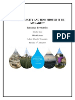 Water Scarcity and how should it be managed?