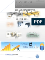 Daily Mcx Newsletter 13 Feb 2014
