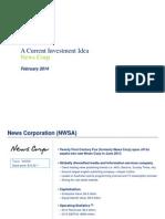 2014.02 News Corp Investment Idea